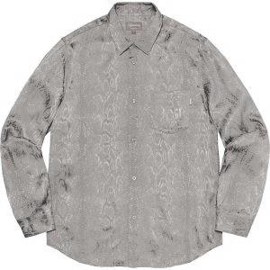 Snakeskin Jacquard Shirt