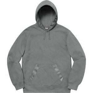 Tonal Webbing Hooded Sweatshirt