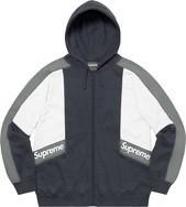 Color Blocked Zip Up Hooded Sweatshirt