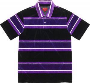 Stripe Velour Polo