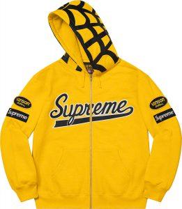 Supreme®/Vanson Leathers® Spider Web Zip Up Hooded Sweatshirt
