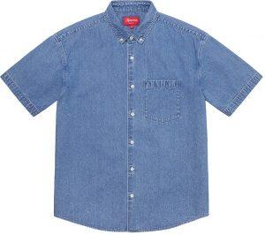 Embossed Denim S/S Shirt