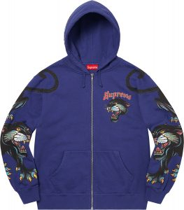 Panther Zip Up Hooded Sweatshirt