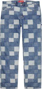 Patched Denim Painter Pant
