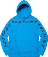 Raised Embroidery Hooded Sweatshirt