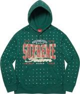 Rhinestone Hooded Sweatshirt