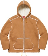 Faux Shearling Hooded Jacket